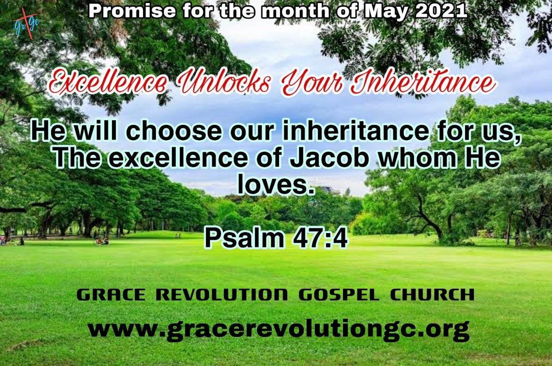 Promise for the month - May 2021